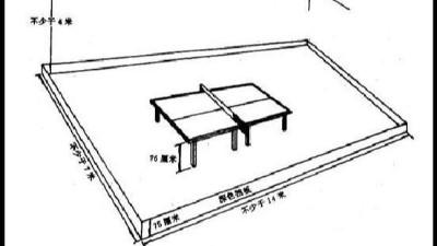 乒乓球球场尺寸