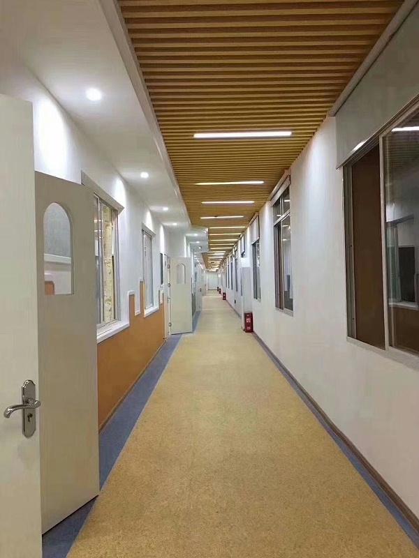 学校走廊塑胶地胶