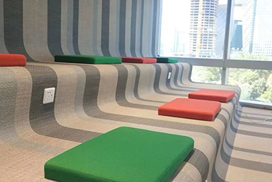 瑜伽房用PVC编织地胶