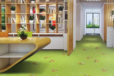 PVC地板应用在幼儿园